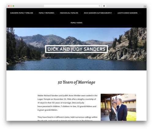 Argent best free WordPress theme - dickandjudysanders.com