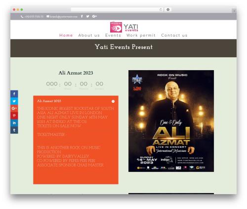 Best WordPress template Divi - yatievents.com