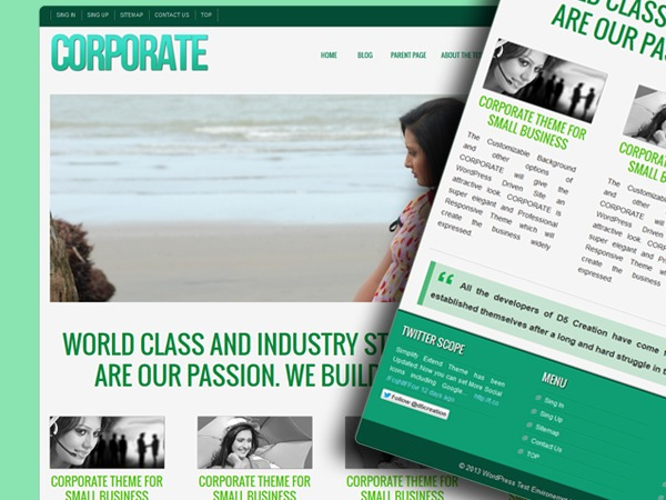 D5 CORPORATE LITE WordPress template for business