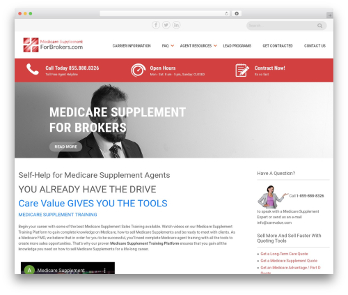 WordPress theme Sanitorium - medsuppforbrokers.com