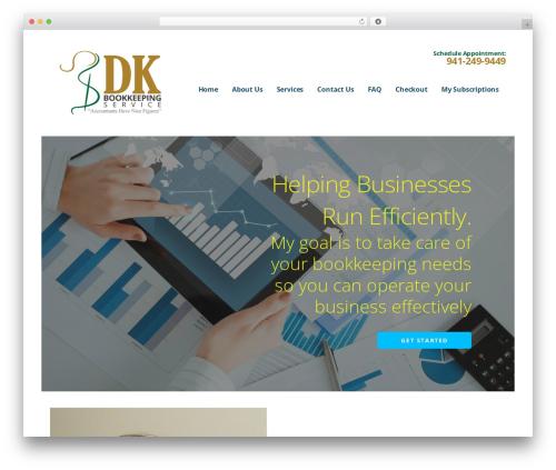 Ascension WordPress website template - dkbookkeepingservice.com