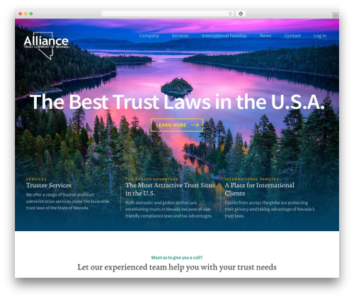 ATC Theme business WordPress theme - alliancetrustcompany.com
