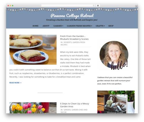 Brigsby Premium WordPress blog theme - pineconecottageretreat.com
