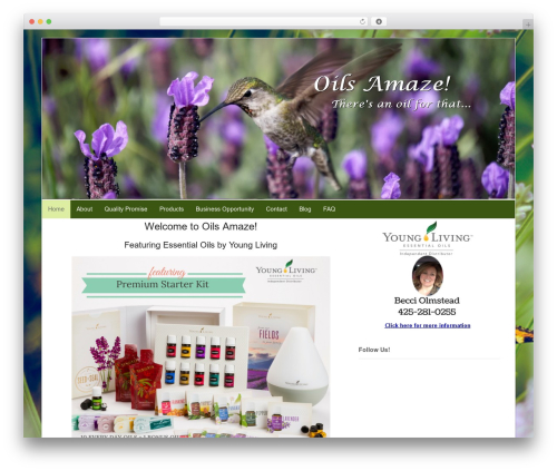 Canvas theme WordPress - oilsamaze.com