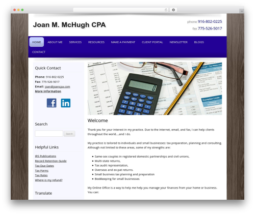 Customized theme WordPress - joancpa.com