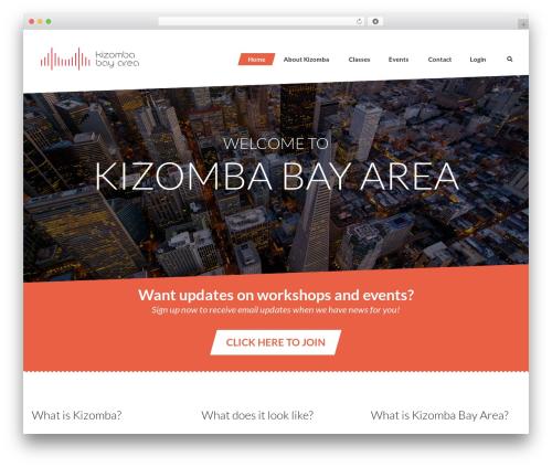 Dance Studio WordPress template - kizombabayarea.com