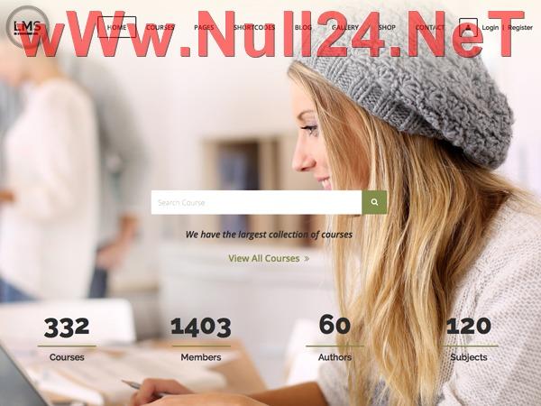 LMS - Null24.Net WordPress portfolio theme