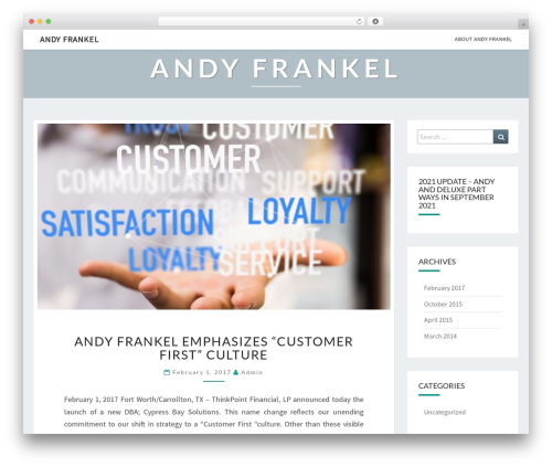 Nisarg best WordPress theme - andyfrankel.com
