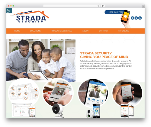 Responsive Mobile WordPress template for business - stradasecurity.com