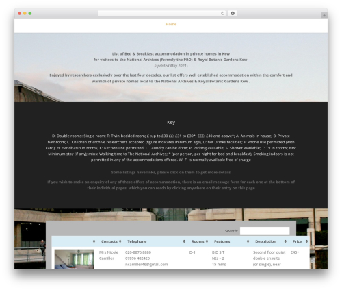 WordPress template Divi - kewaccommodation.com