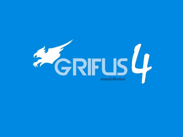 Grifus WordPress page template