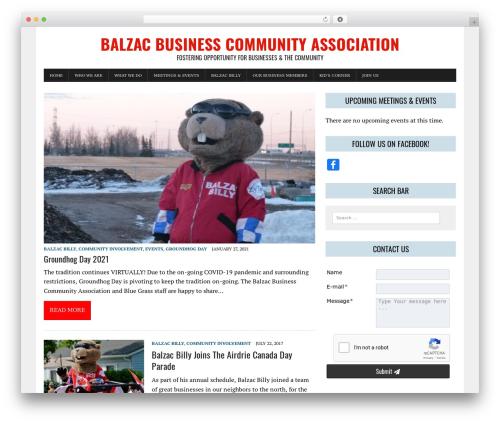 MH Newsdesk lite free WordPress theme - balzacbilly.com