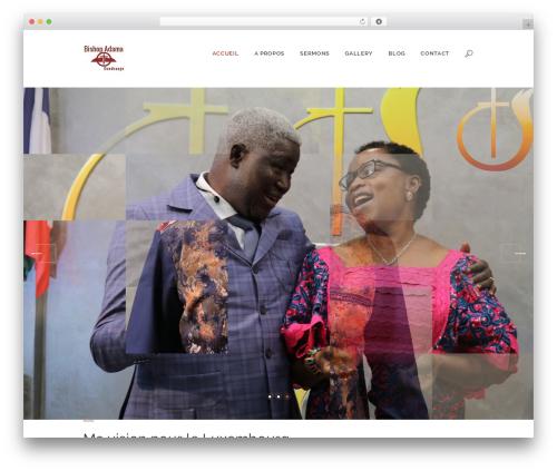 Pastore Church WordPress theme - bishopadama.com