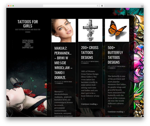 Photocrati Theme WP theme - tattoos4girls.com