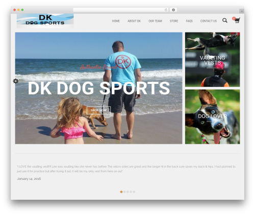 ShoperaPRO WordPress shop theme - dkdogsports.com