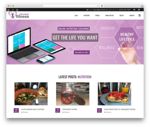Subway fitness WordPress theme - jacynthedurocher-fitness.com