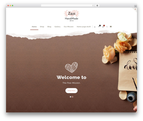 Zass premium WordPress theme - thepawmission.com