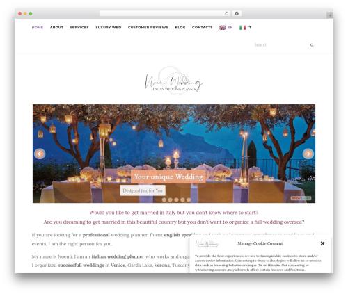 Activello WordPress theme - noemiwedding.com