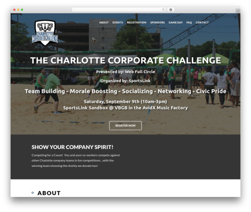 Best WordPress template Eventiz - charlottecorporatechallenge.com
