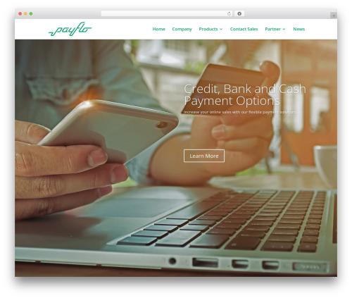Theme WordPress Divi - payflo.com