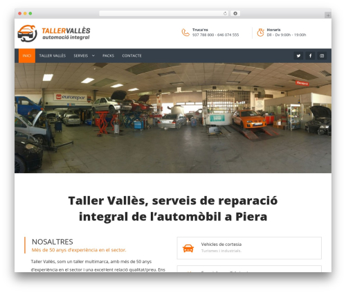 WordPress theme Carshire - tallervalles.com