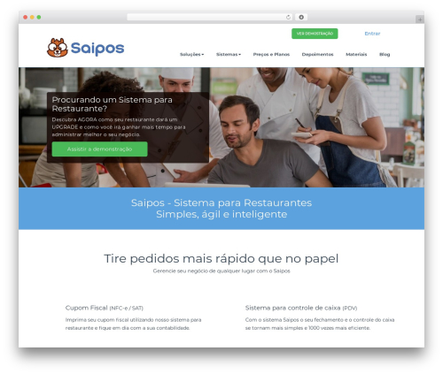 BusiProf Pro WordPress restaurant theme - saipos.com