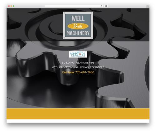 cherry WordPress page template - wellbuiltmachinery.com