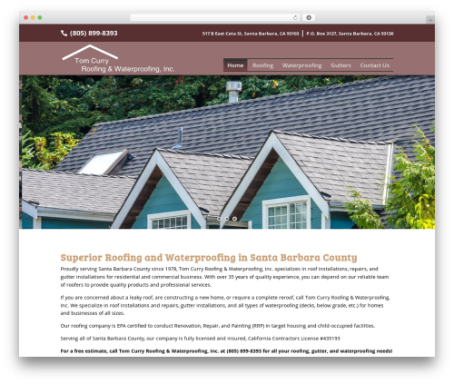 Divi WordPress theme - tomcurryroofing.com