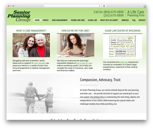 Senior 1.1.2 WordPress theme - seniorplanninginc.com