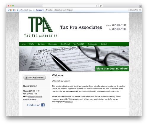 Theme WordPress Customized - tpataxes.com