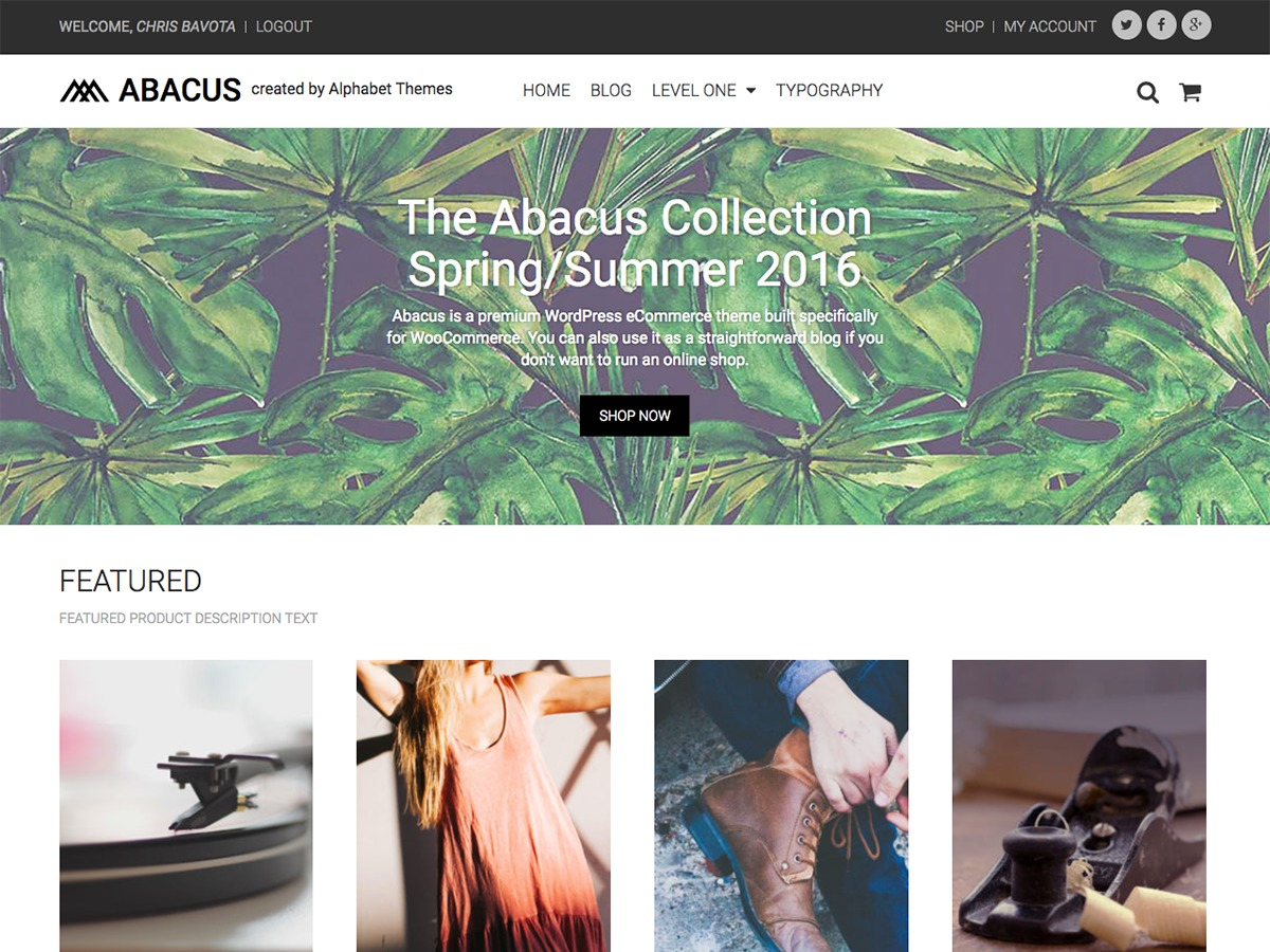 Abacus WordPress shopping theme