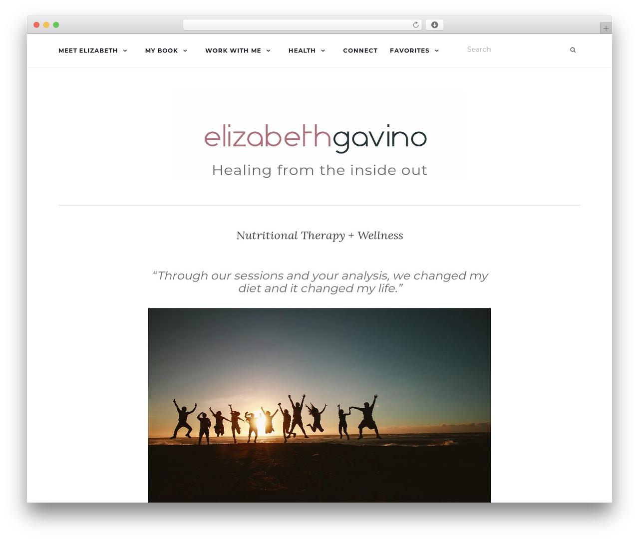 Activello template WordPress free - tastingwellness.com