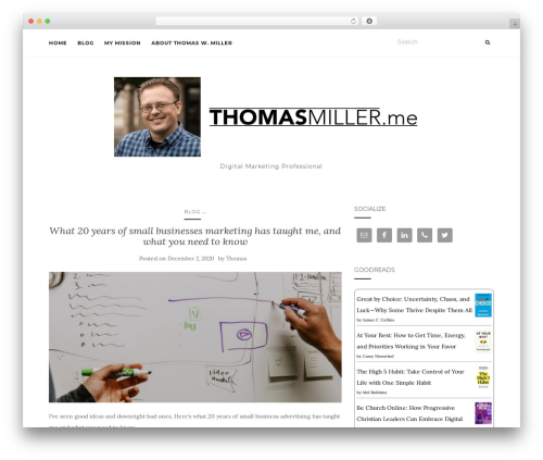 Activello top WordPress theme - thomasmiller.me