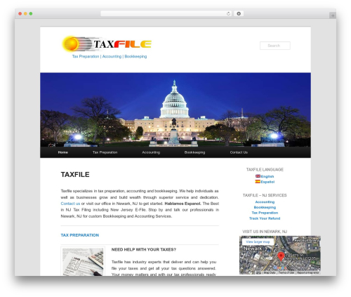Best WordPress template Twenty Eleven - taxfiletoday.com
