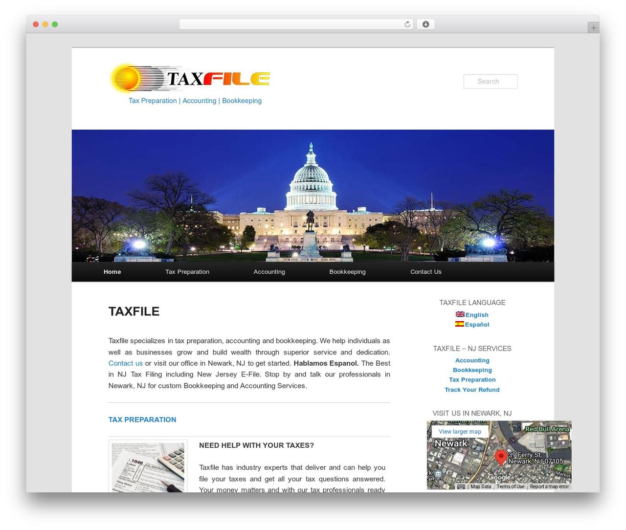 Best WordPress template Twenty Eleven - taxfiletoday.com