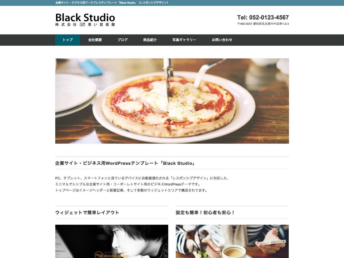 Black Studio WordPress theme design