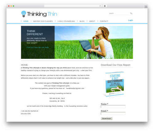 Brightster WP template - thinkingthinlifestyle.com