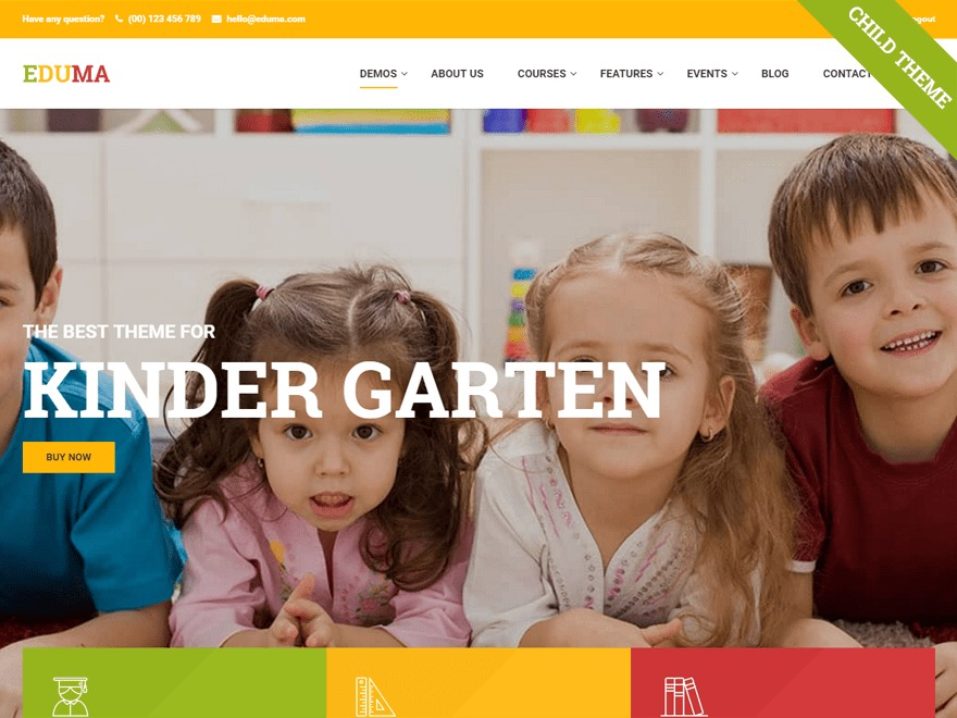 Eduma Child landscaping WordPress theme