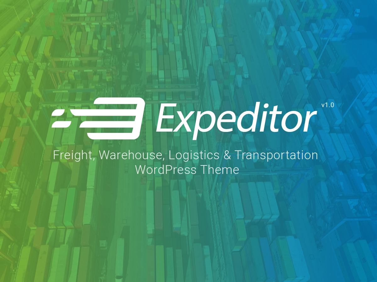 Expeditor company WordPress theme