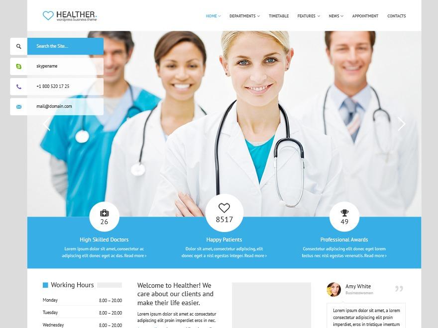 Healther Multipurpose Responsive WordPress Theme company WordPress theme