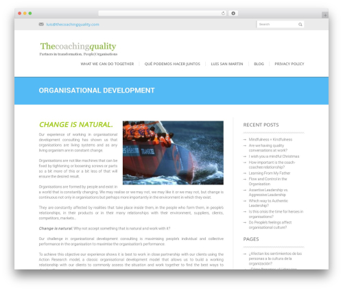 Kage WordPress theme - thecoachingquality.com/our-services/organisational-development