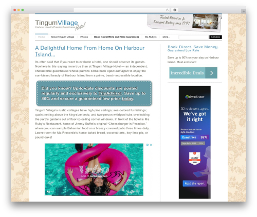 Klasik WordPress theme - tingumvillage.com