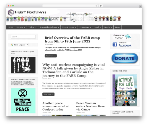 Magazine Basic template WordPress - tridentploughshares.org