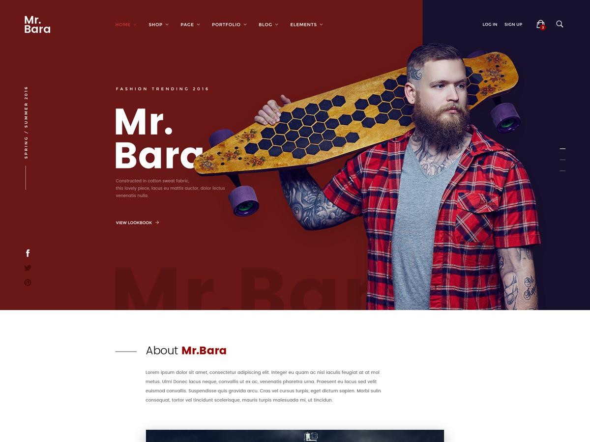 MrBara Child WordPress website template