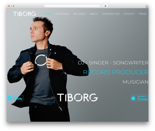 MUZIQ Jellythemes theme WordPress - tiborg.com