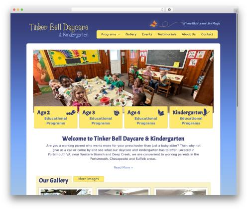 Peekaboo WordPress website template - tinkerbelldaycare.com
