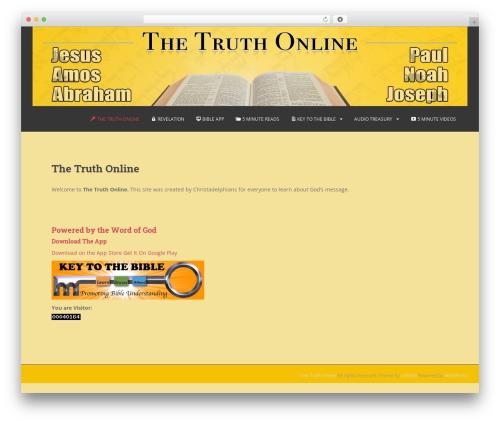 WordPress wonderplugin-audio plugin - thetruthonline.org