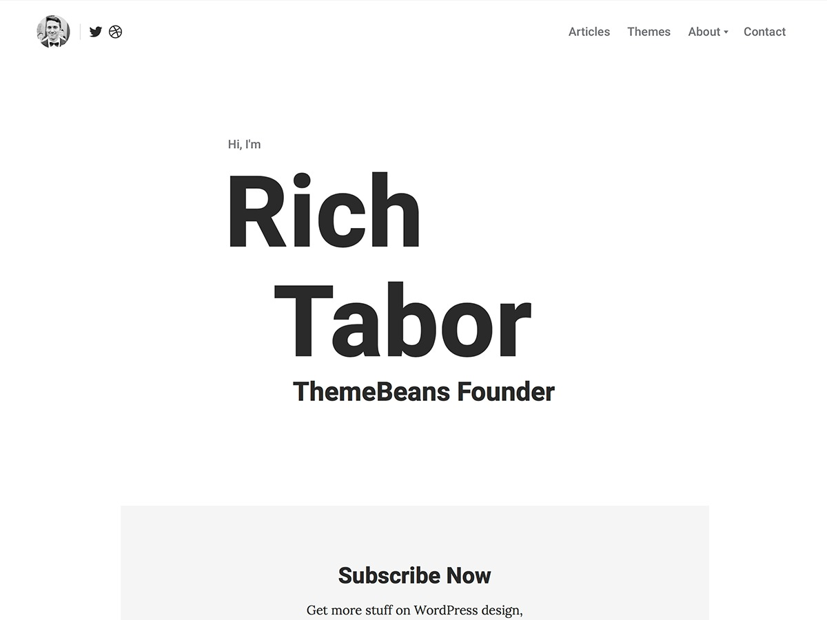 Tabor WordPress blog template
