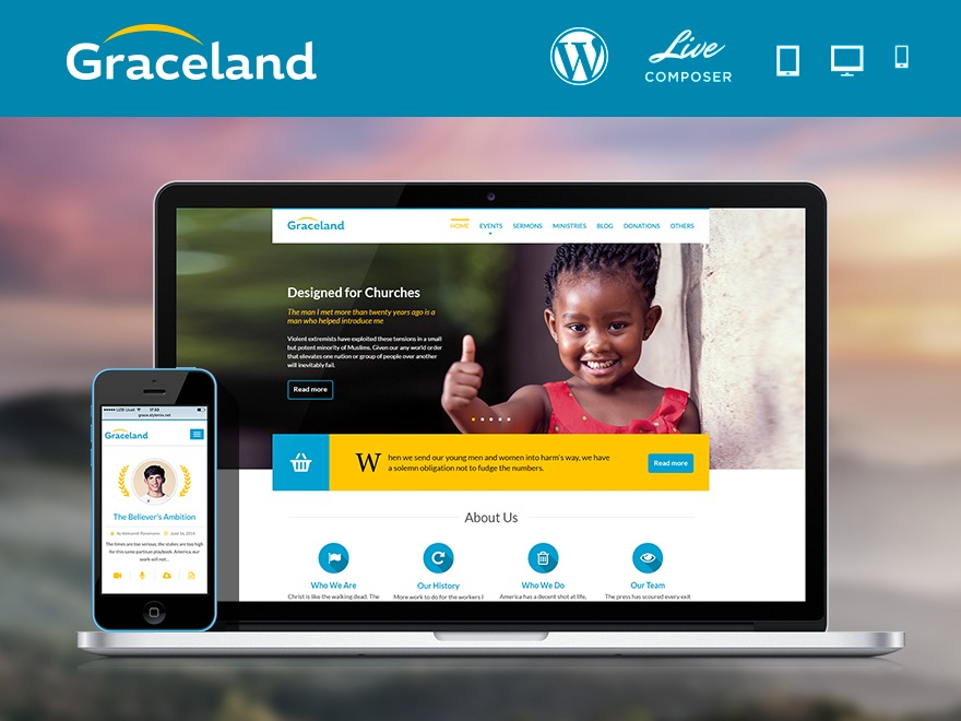 Template WordPress Graceland