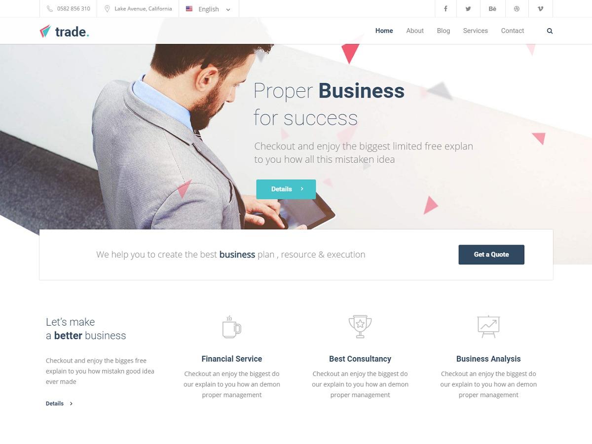 Trade WordPress template
